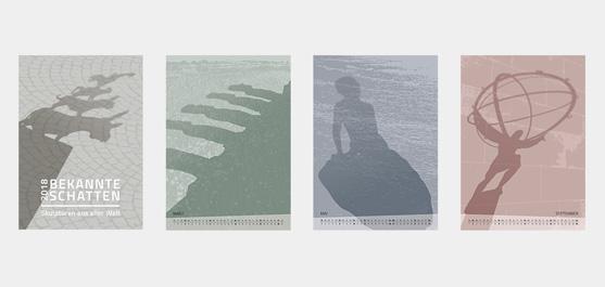 Kalender 2018: Bekannte Schatten